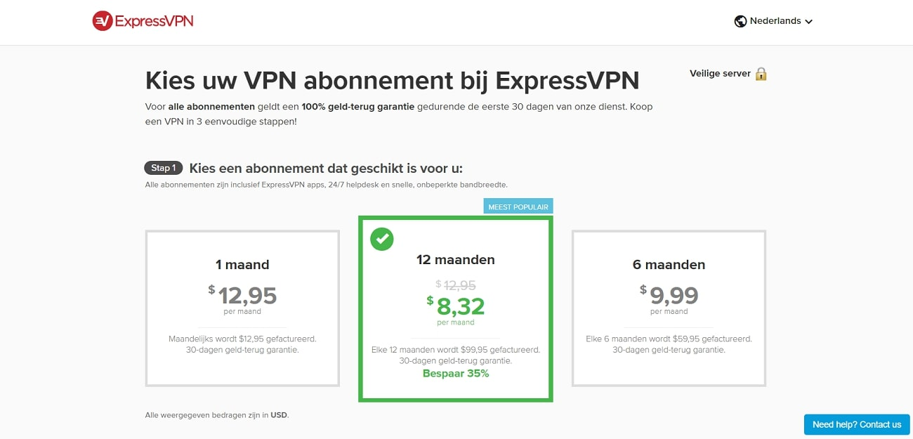 ExpressVPN_Prices_NL