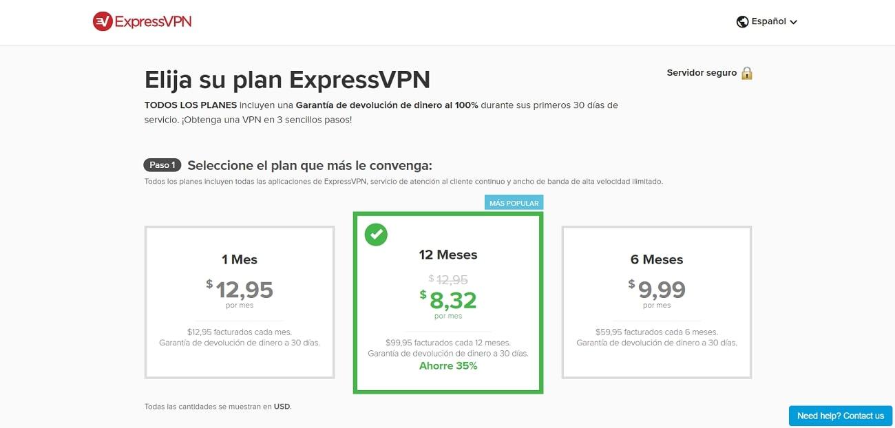 Express_VPN_Plan_ES