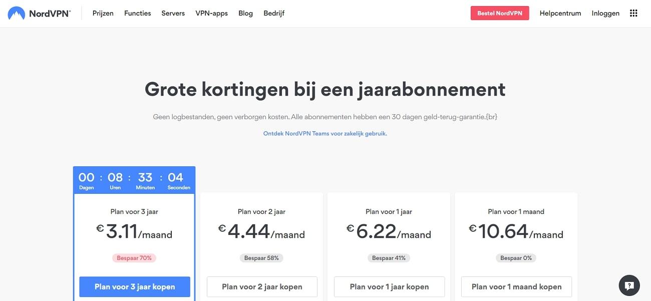 NordVPN_Prijzen_NL