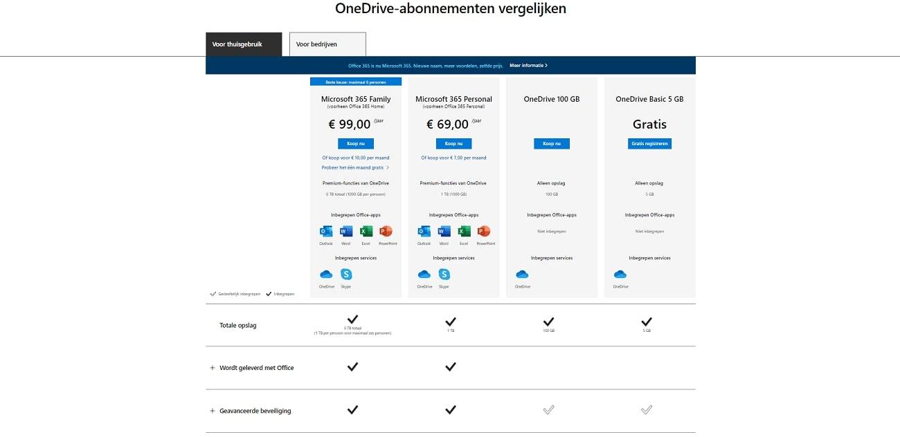 OneDrive_Prijzen_NL