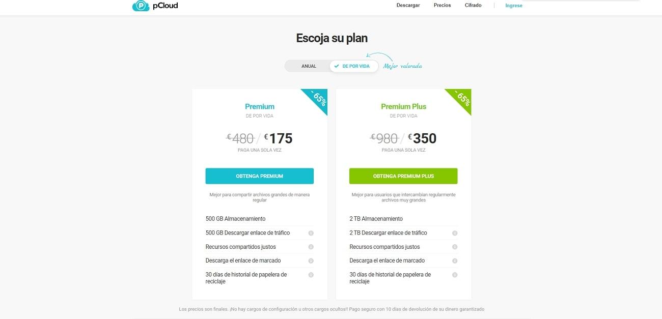 Pcloud_Prices_ES